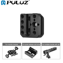 PULUZ クイックリリースプレート外部取付ホルダー dji 浪人/RONIN S 電話ジンバルアクセサリー