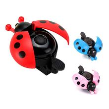 Lovely Kid  Bike Bell Aluminum Alloy  Mini Cartoon Ladybug Bicycle Ring Bell  For Cycling Bike Bell Ride Horn Alarm Bike accesso bicycle bike handlebar ball air horn trumpet ring bell loudspeaker noise maker free shipping