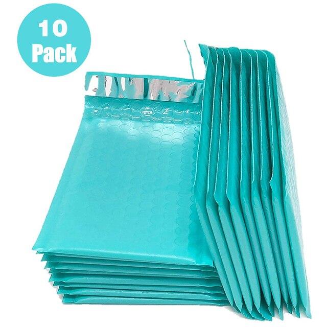 10 pièces couleur Poly bulle Mailer enveloppes rembourrées auto joint sac dexpédition enveloppe à bulles sac de mariage sac cadeau enveloppes dexpédition