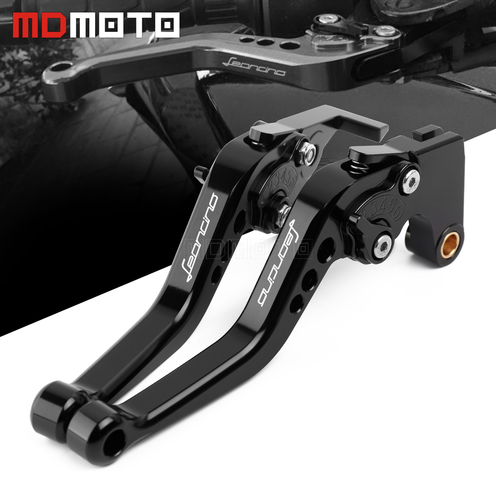 Motorcycle Brake Clutch Levers Set Short For Benelli Leoncino 500 LeonineX 2016 2017 2018 with logo Leoncino|Levers  Ropes & Cables| |  - title=