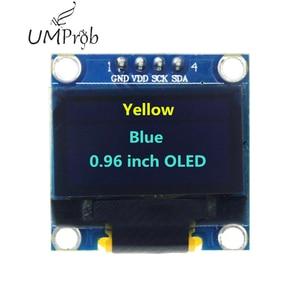 Image 4 - 0.91 Inch 128X32 IIC I2C Trắng/Xanh Dương OLED Màn Hình Hiển Thị LCD Module DIY SSD1306 IC Điều Khiển DC 3.3V 5V Cho Arduino
