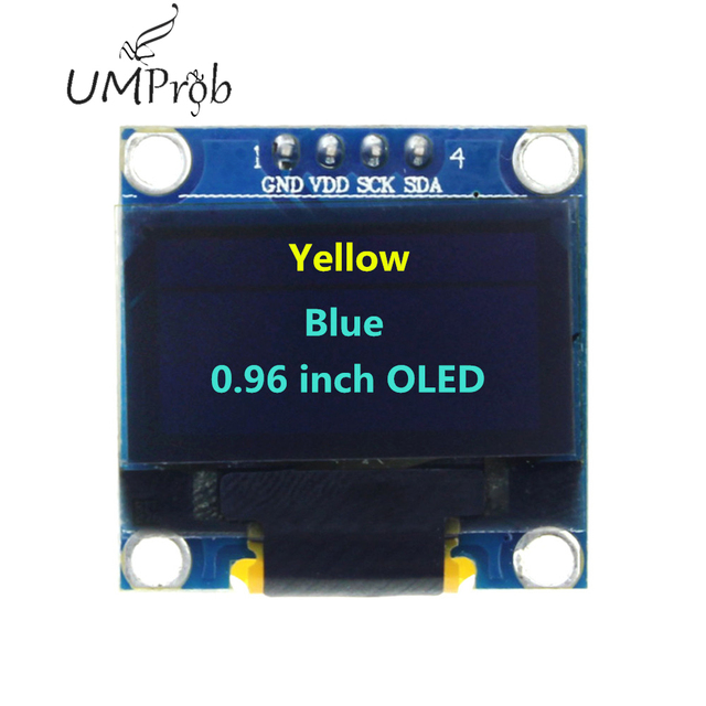 0.91 Inch 128x32 IIC I2C White / Blue OLED LCD Display DIY Module SSD1306 Driver IC DC 3.3V 5V for arduino 3