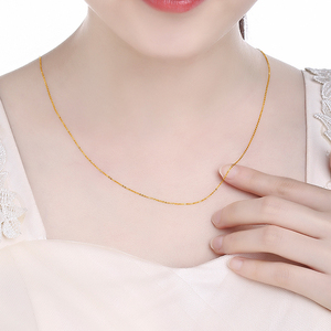 Image 4 - FENASY Genuine 18K White Yellow Gold Chain 18 Inches Au750 Cost Price Necklace Pendant Wendding Party Gift For Women Love