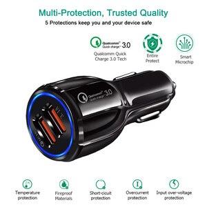 Image 1 - Szybkie ładowanie 3.0 samochodów naklejki i kalkomanie akcesoria wnętrza samochodu naklejki 2 Port ładowarka do telefonu dla IPhone Samsung Tablet USB