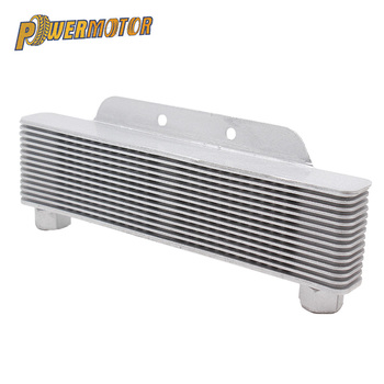Motorcycle Universal Oil Cooler Engine Transmission Oil Cooler Radiator Cooling Radiators 238mm 15-Row Accessory evil energy universal 10 row 10an aluminum engine oil cooler transmission cooler racing oil cooler raditor