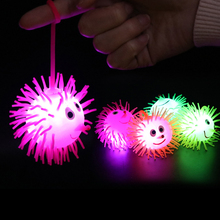Glow In The Dark Kids Toy Decompression Anti Stress Flash Ball Light Glowing Toys LED Stars Shine E