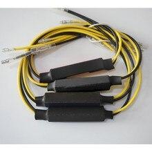 4 pçs 12v motocicleta transformar a luz do sinal de piscamento adaptador fixação indicador erro led decodificador lâmpada led cancelador lâmpada nevoeiro resistor