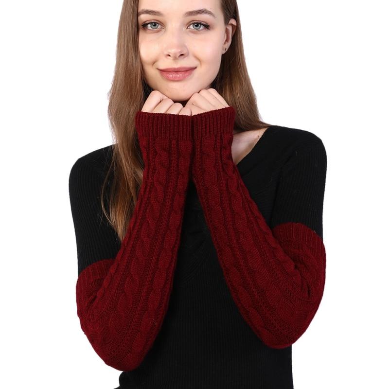 Fashion Winter Women Hand Warmer Girls Mittens Warm Sleeve Fingerless Gloves Knit Arm Wrist Warmers
