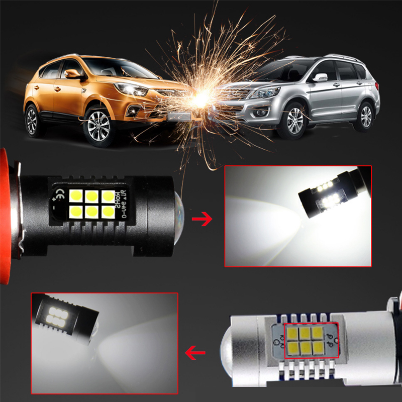 Image 3 - 2PCS LED Car Bulbs H8 H11 9005 9006 21 SMD 3030 Super Bright Auto Led Bulb Lamp 6000K Fog Light Cars Driving Lamp DRL-in Car Fog Lamp from Automobiles & Motorcycles