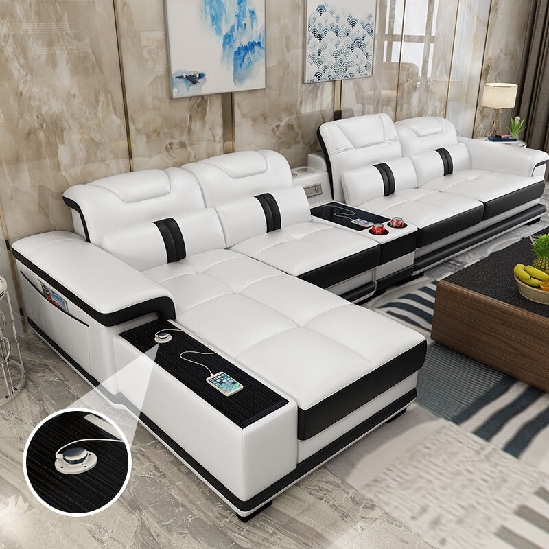 Living Room Genuine Leather Sofa