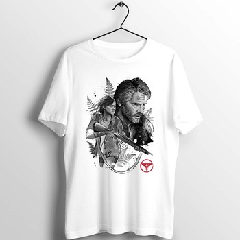 The Last of Us Joel and Ellie Unisex Men Women T Shirt Artwork Printed Tee simple basic loose leisure harajuku clothing the last of us ellie costume adult halloween custom red t shirt suit for women hot game fancy shirt ellie outfit