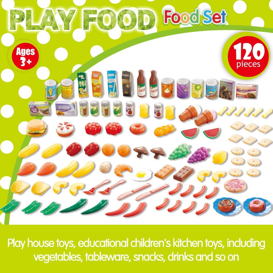 140Pcs Κοπή Φρούτα Λαχανικά Προσποιούν - Παιχνίδι ρόλων - Φωτογραφία 5