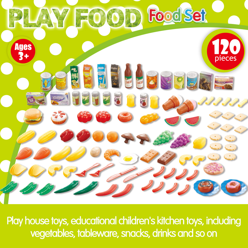 Image 5 - 140Pcs Kids Cutting Fruits Vegetables Pretend Play Kitchen Toys Miniature Safety Food Sets Educational Classic Toy for Children-in Kitchen Toys from Toys & Hobbies