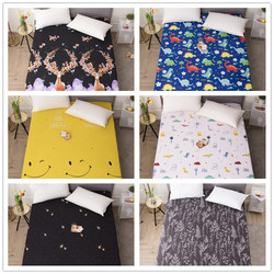 Fitted Sheet With Elastic Rubber Band Polyester Bed Sheet Geometric Pattern Bed Linens Mattress Cover Protector
