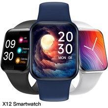 Aosexi x12 relógio inteligente toque completo fitness à prova dbluetooth água bluetooth smartwatch esporte relógio monitor de freqüência cardíaca versão global