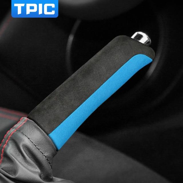 TPIC Alcantara Car Handbrake Cover For Subaru BRZ Toyota 86 2013-2020 Auto Gear Shift Sticker Mouldings Interior Accessories 3