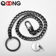 Новинка 2020 модный брелок для ключей qoong с вертикальной талией