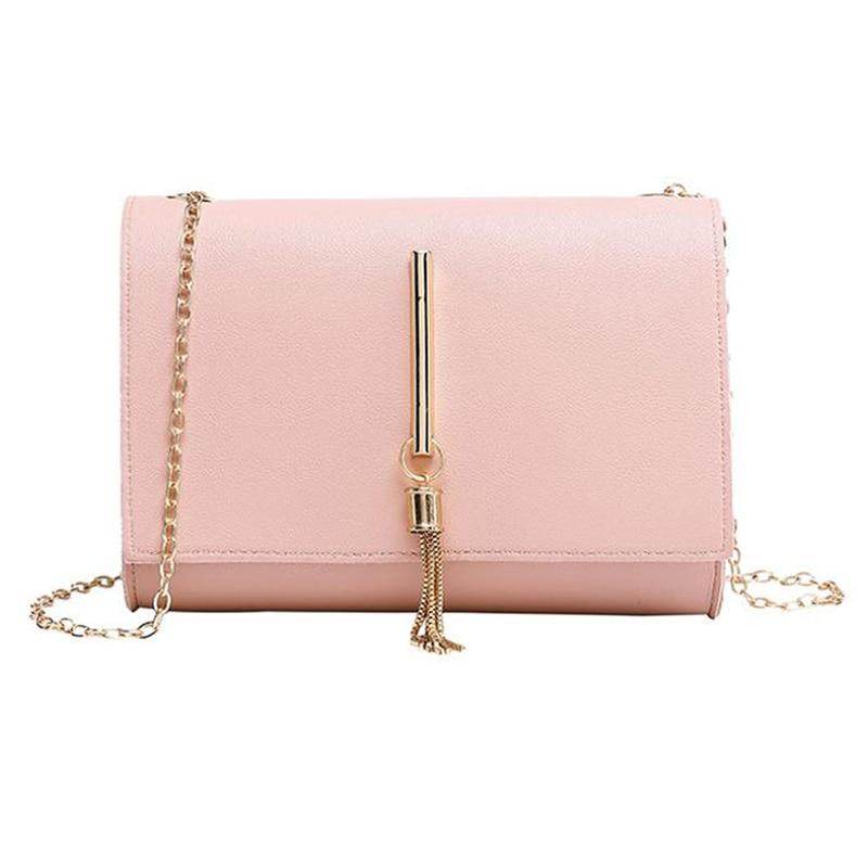 Mini Chain Bags Single Shoulder Small Square Bag Tassel Pendant Shopping Diagonal Cross Package