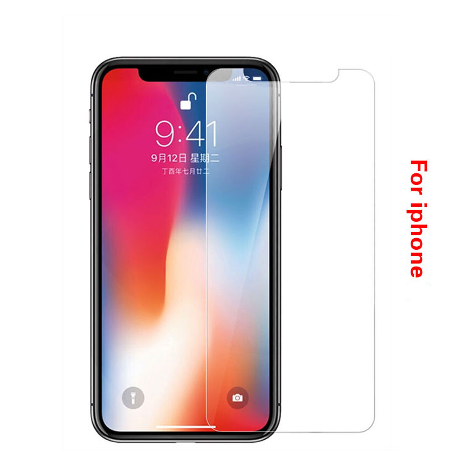 Easy To Install Ultra-thin Scratch Proof Tempered Glass For Iphone X XS Max XR 6 6s 7 8 Plus Screen Protector Protective Glass