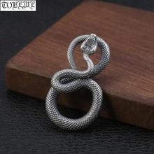 100% 925 colgante de serpiente de plata Vintage colgante de plata de ley colgante de serpiente de plata Punk joyería