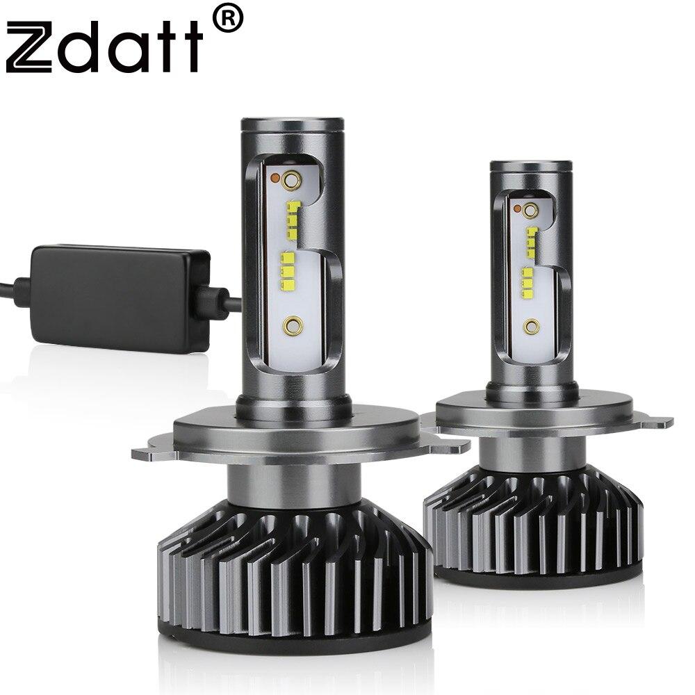 Zdatt H7 LED H4 ZES Car Light Canbus LED Headlight Bulb H1 H8 H9 H11 HB3 9005 9006 HB4 12000LM 100W LED 6000K 12V 24V Auto Lamp