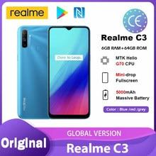 Reyno C3 Versão Global 3GB GB 5000mAh Helio 64 G70 Processador 12MP AI Câmera Dupla Fullscreen смартфоны NFC Smartphone Android