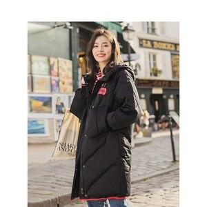 Image 2 - INMAN Hoodedพิมพ์สุภาพสตรีหญิงสาวฤดูหนาวเป็ดหนังCoatเสื้อผู้หญิงแฟชั่นเสื้อกันหนาว