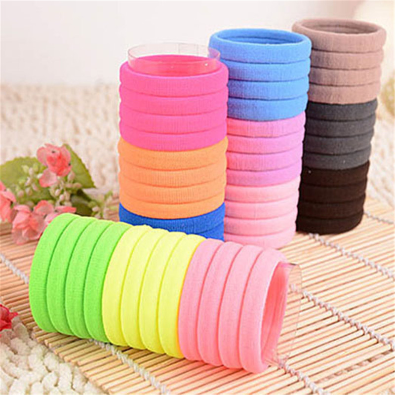 5PCS/Lot Colorful Rubber Bands Girl Child Kids Hair Holders Cute Rubber Hair Band Elastics Accessories Girl Charms Tie Gum