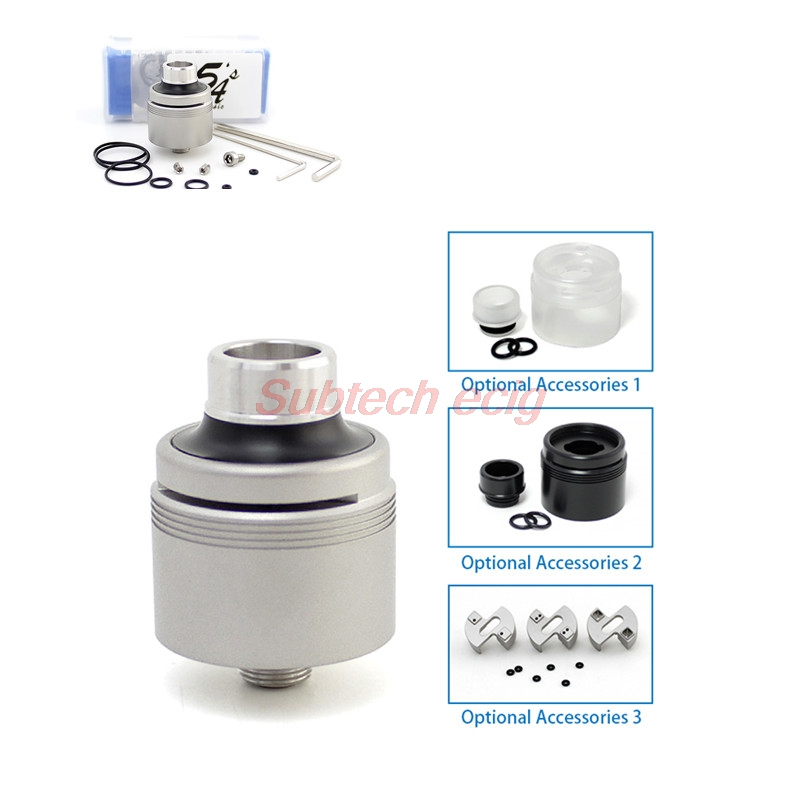Newest SXK Style 5A Basic 2.0 RDA Tank Rebuildable Dripping Top Airflow DIY Atomizer With BF Pin Feed 316 SS 22mm Vape Tank