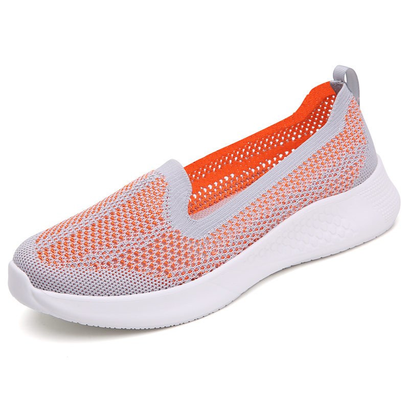 2020 Summer shoes women loafers Slip on casual Shoes sock Sneakers brand mesh breathable ultralight flats zapatillas size 35-42