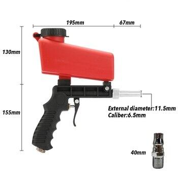 цена на 90psi portable sandblasting gun 700cfm power Professional streamline sandblasting machine Spray Gun Mini Air Paint Spray Guns 5