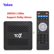 2020 tox1 amlogic s905x3 android 9.0 caixa de tv 4gb ram 32gb rom 2.4g 5g wifi bluetooth 1000m 4k hd conjunto caixa superior de mídia jogar para dolby