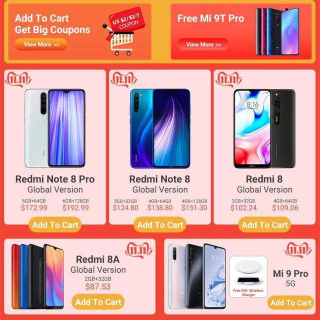 2019 Global Version Xiao Redmi 8 Smartphone 4GB RAM 64GB ROM Snapdragon 439 10W Fast Charging 5000 mah Battery Cellphone 13