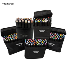 TOUCHFIVE 24/30/40/60/80 Colors Dual Headed Art Markers Set Alcohol Based Markers Drawing Pen Manga Sketch Marker Design Pens