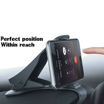Car Phone Holder GPS Cell Phone Mobile Holder 6.5inch Dashboard For Toyota Ford Universal Mobile Phone Clip Mount Stand Bracket image
