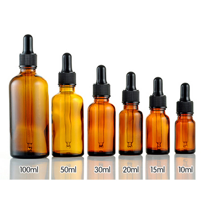 10/15/30/50/100ml Amber Glass Liquid Reagent Pipette Bottle Eye Dropper For Storing Chemistry Laboratory Chemicals Perfumes
