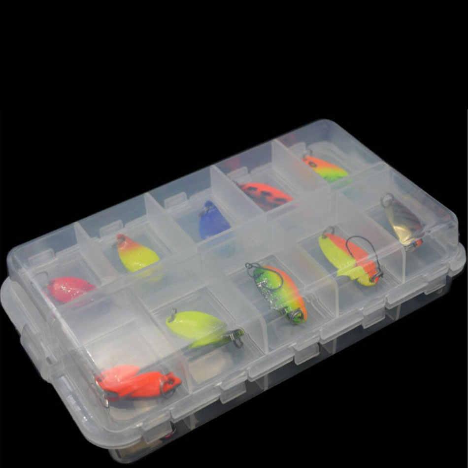JYJ boîte paquet coloré 2.5g 3g 3.4g 4.5g dur métal pêche cuillère leurre ensemble doré truite cuillère appâts cuillère jig appâts