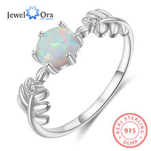 Женское свадебное кольцо jewelora серебряное круглое с белым