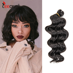 Leeons New Ocean Wave Crochet Braids Hair 9Inch Water Wave Crochet Braids Hair Synthetic Crochet Braids Hair Extensions Natural