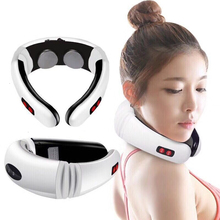 MO TULIP Electric Pulse Back & Neck Massager Far Infrared Heating Pain Relief Massage Tool Health Care Relaxation Massager Tool