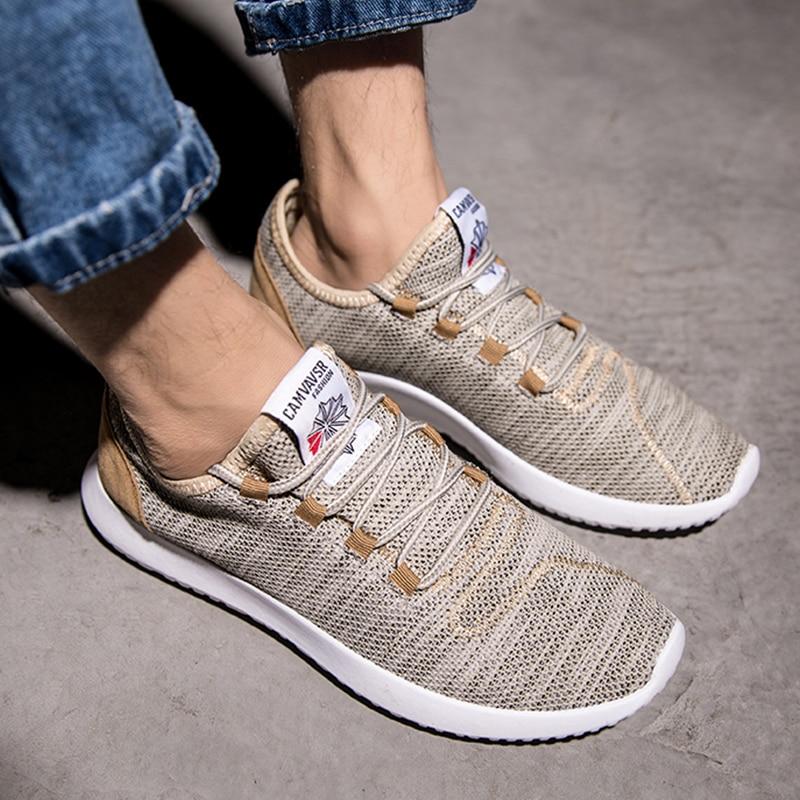 Męska rozrywka lekkie trampki moda obuwie sportowe do biegania buty wygodne buty Plus rozmiar oddychające na co dzień Flyknit buty 39 47