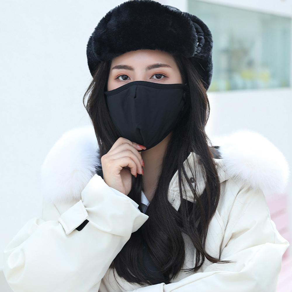 Winter Keep Warm Face Mask Outdoor Ski Warm Hat Mens Women Warm Trapper Trooper Earflap Winter Ski Hat With Mas