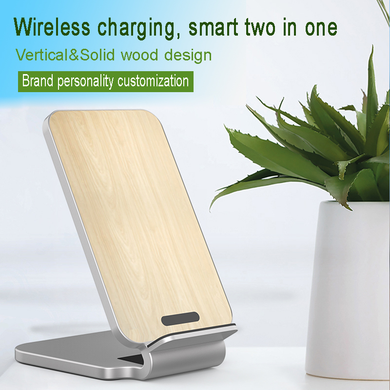 Image 3 - Lantro JS Qi Wireless Charger Stand Wood Fast Charger for iPhone Xs Max and Smartphone with 1M Type C Cable without Adapter-in Mobile Phone Chargers from Cellphones & Telecommunications