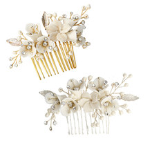 Handmade Jewelry Crystal Rhinestone Bridal Hair Comb Hair Pin Wedding Bridal Hair Accessories(China)