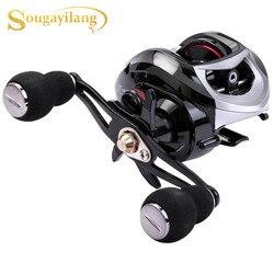 Sougayilang 18 + 1BB kołowrotek mocna moc ciągnięcia 10kg biały/czarny prawy/leworęczny kołowrotek karpiowy Tracking Pesca
