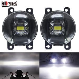 Image 1 - 2 Pieces LED Fog Light 30W 8000LM Car Front Bumper Fog Lamp 12V For Honda CR V CRV Pilot Accord Crosstour City Fit Insight CR Z