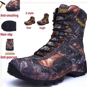 Chiang Men High top Military Boots Camouflage Waterproof Brand Warm Hiking High Quality Endurable Sneakers For Soldiers Wild|Hiking Shoes| |  -