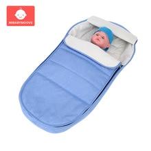 Cotton Newborn Baby Stroller Sleeping Bag Winter Warm Baby Stroller Footmuff Thicken Windproof Infant Baby Pram Sleepsacks 0-3Y все цены