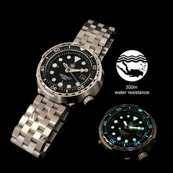 1975 First Canned Tuna Dive Watch Super Luminous Automatic Watch Man Mechanical Watch NH35 300M Diver Watches Sapphire Crystal