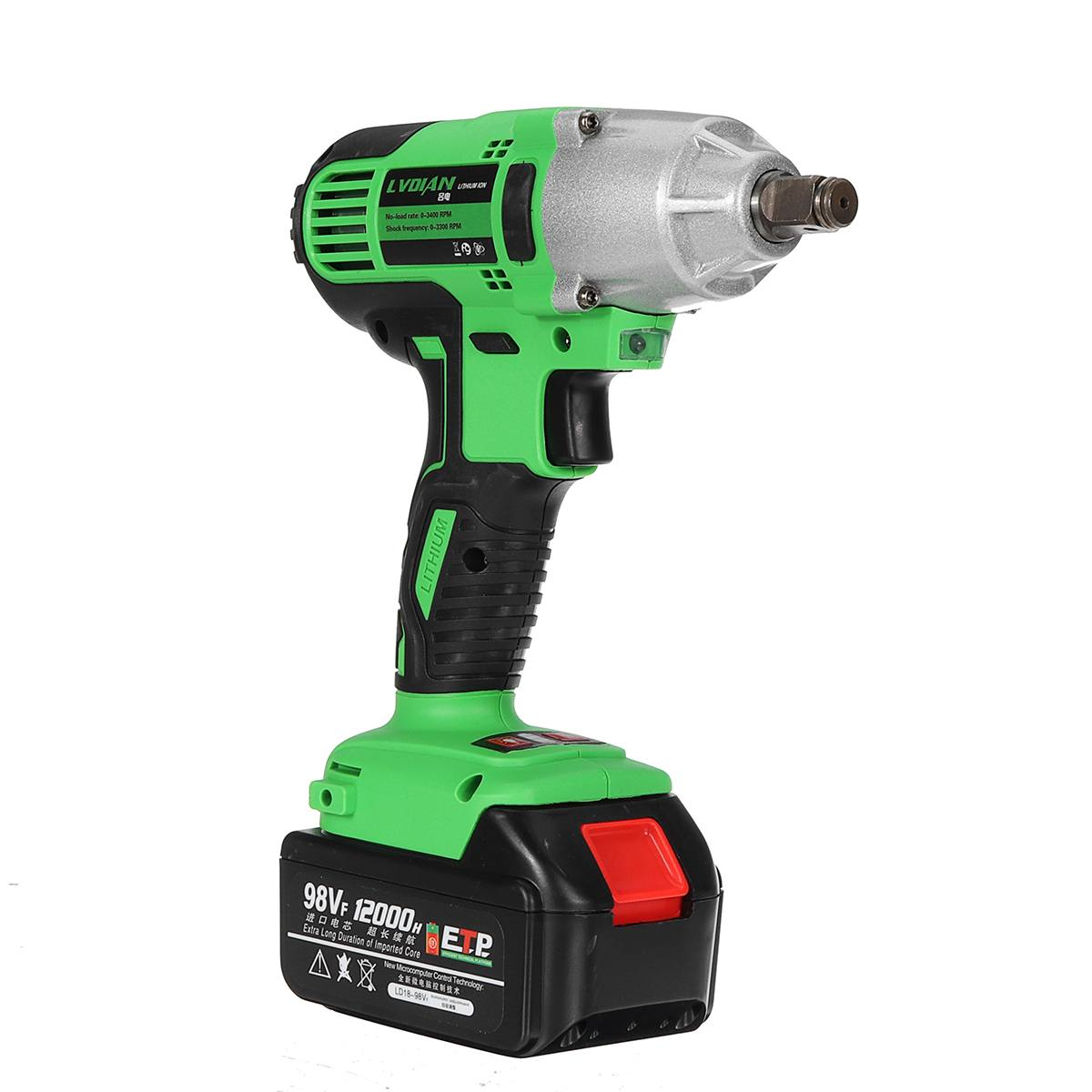 Drill Lights 2inch Battery 12000mah Cordless Wrench Brushless With LED Electric 1 98VF Impact Wrench Power DRILLPRO Electric Tools